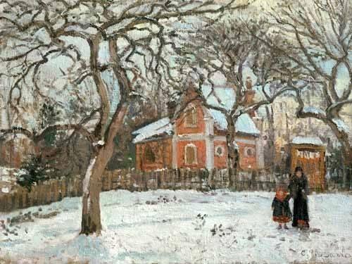 tableaux-de-paysages - Tableau -Chateigniers a Louveciennes, vers 1872- - Pissarro, Camille
