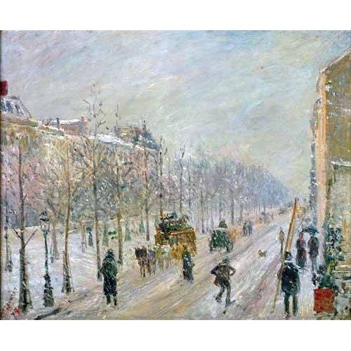 Tableau -Les Boulevards exterieurs,effet de neige, 1879-
