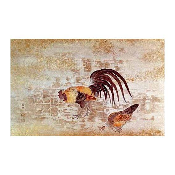 quadros decorativos - Quadro -Gallo y gallina-