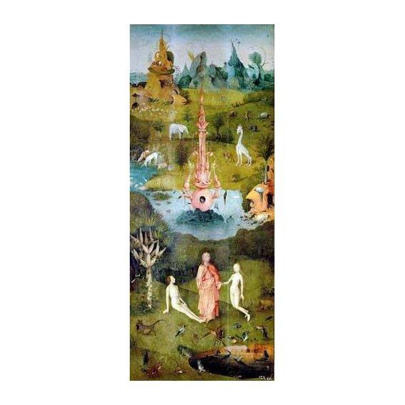 pinturas de paisagens - Quadro -El Jardin De Las Delicias (Detalle Panel izquierdo)-