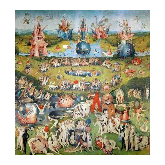 pinturas de paisagens - Quadro -El Jardin De Las Delicias (Detalle Panel central)-