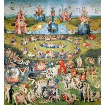Tableau -Le jardin des délices (détail du panneau central)-