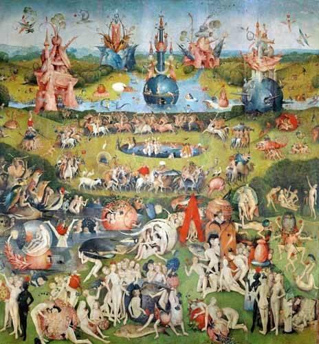 tableaux-de-paysages - Tableau -Le jardin des délices (détail du panneau central)- - Bosco, El (Hieronymus Bosch)
