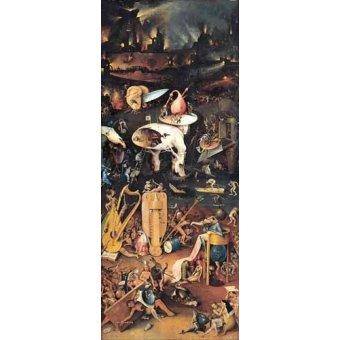 Tableau -Le jardin des délices (détail du panneau de droite)-