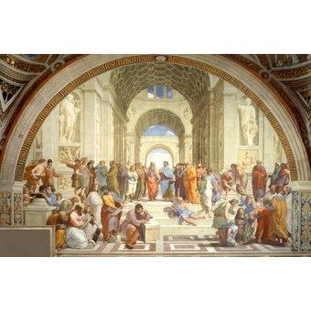 Tableaux de Personnages - Tableau -L'École d'Athènes- - Raphaël, Sanzio da Urbino Raffael