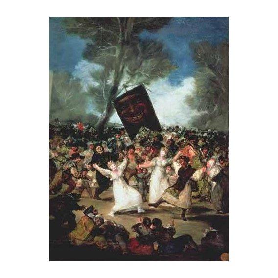 pinturas do retrato - Quadro -El entierro de la sardina, c-1812-19-