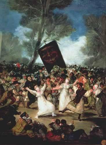 tableaux-de-personnages - Tableau -El entierro de la sardina, c-1812-19- - Goya y Lucientes, Francisco de