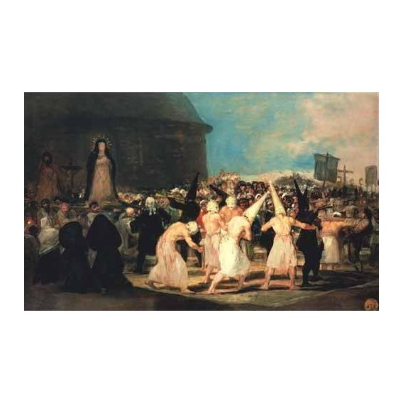 pinturas do retrato - Quadro -Procesion de flagelantes, 1815-19-