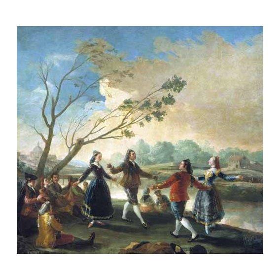 pinturas de paisagens - Quadro -Baile a orillas del Manzanares-