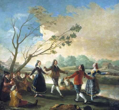 tableaux-de-paysages - Tableau -Baile a orillas del Manzanares- - Goya y Lucientes, Francisco de