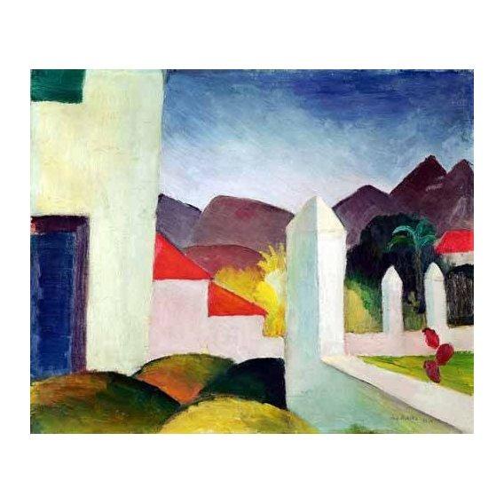 pinturas de paisagens - Quadro -Paisaje de Tunez-