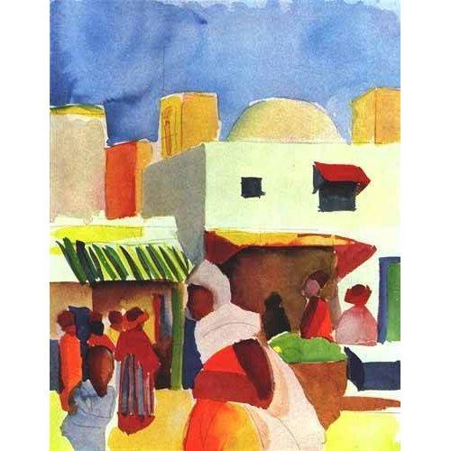 pinturas de paisagens - Quadro -Por el bazar-