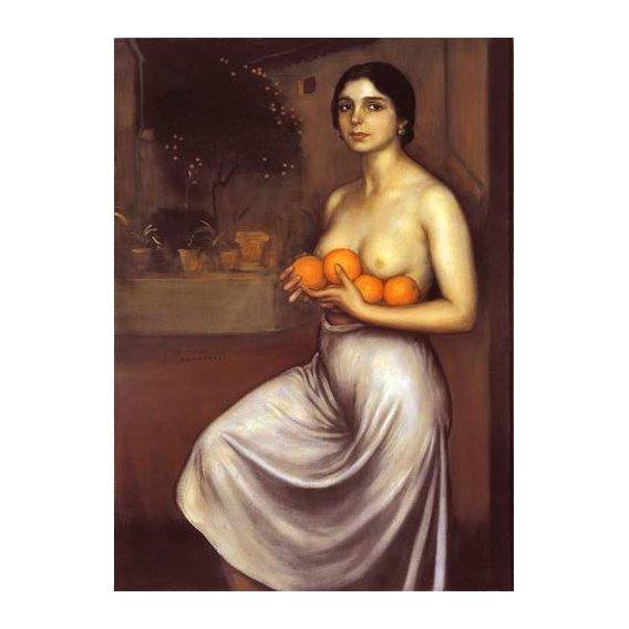 pinturas do retrato - Quadro -Naranjas y Limones-