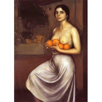 Tableaux de Nus - Tableau -Naranjas y Limones- - Romero de Torres, Julio