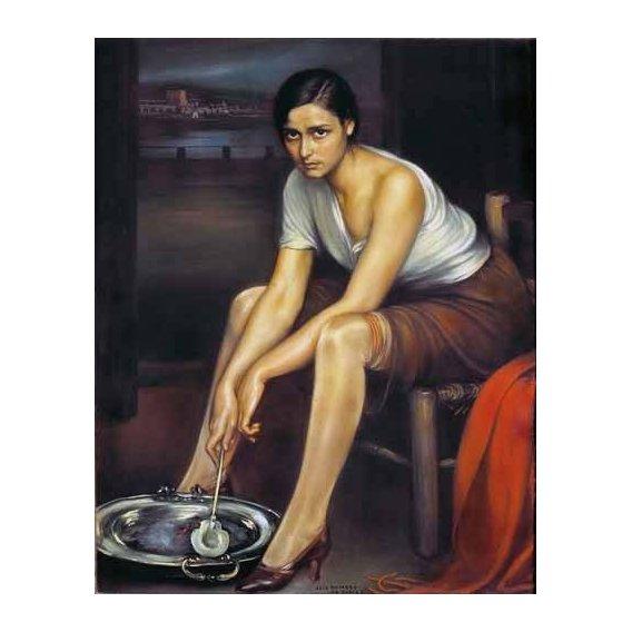 pinturas do retrato - Quadro -La chiquita piconera-
