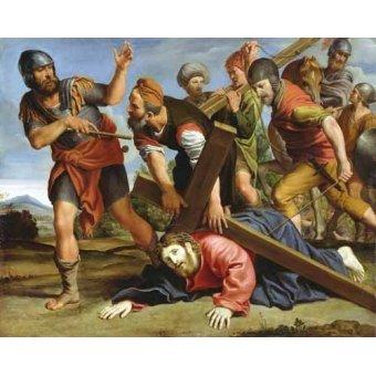Tableaux religieuses - Tableau -El Camino al Calvario- - Zampieri, Domenichino