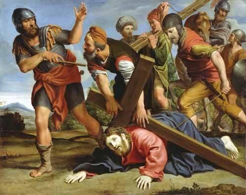 tableaux-religieuses - Tableau -El Camino al Calvario- - Zampieri, Domenichino