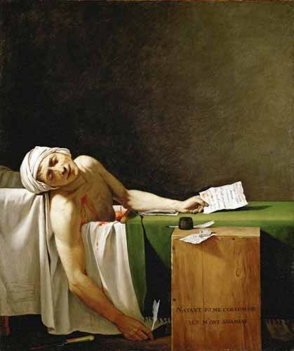 tableaux-de-personnages - Tableau -Jean Paul Marat, dead in his bathtub (Muerte de Marat)- - David, Jacques Louis