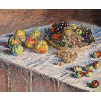 Tableaux nature morte - Tableau -Nature morte avec des pommes et du raisin- - Monet, Claude