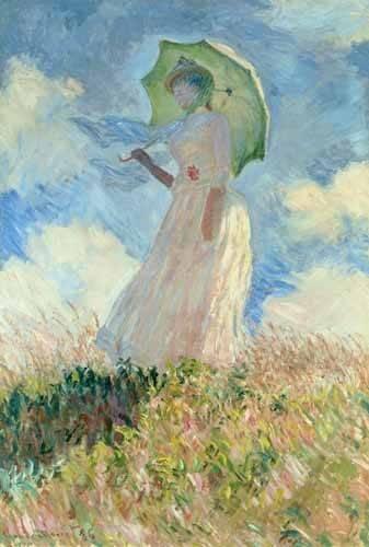 tableaux-de-personnages - Tableau -Femme à l'ombrelle tournée vers la gauche, 1886- - Monet, Claude