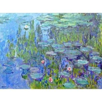 Tableaux de Fleurs - Tableau -Nymphéas, 1914- - Monet, Claude