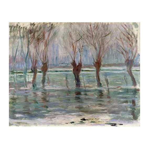 pinturas de paisagens - Quadro -Flood waters at Giverny, 1896-