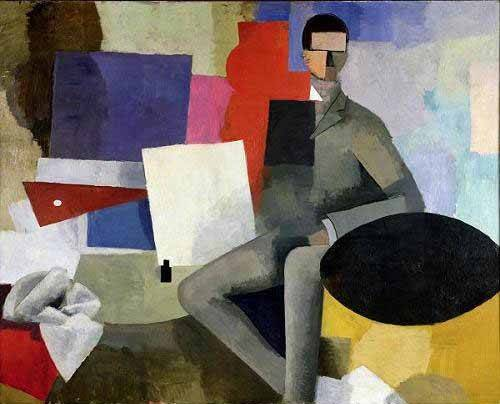 tableaux-abstraits - Tableau -L'architecte- - Fresnaye, Roger de la