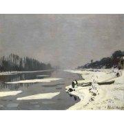 Tableau -Glaçons sur la Seine à Bougival, 1867-68-