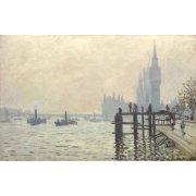 Tableau -La Tamise à Westminster, 1871-