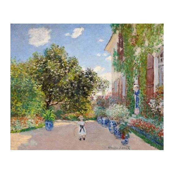 pinturas de paisagens - Quadro -La casa de Monet en Argenteuil, 1873-