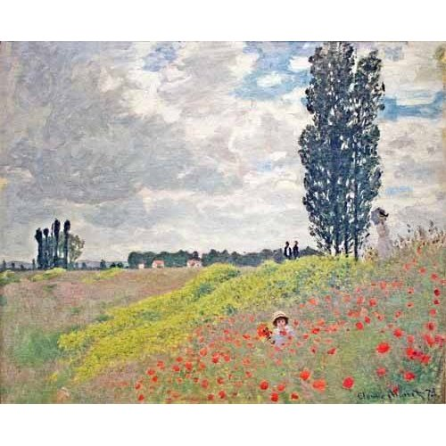 pinturas de paisagens - Quadro -Paseo por el prado en Argenteuil, 1873-