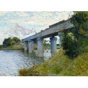 Tableau -Le Pont du chemin de fer à Argenteuil, 1874-