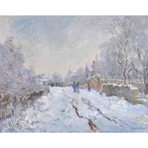Tableau -Scène de neige à Argenteuil, 1875-