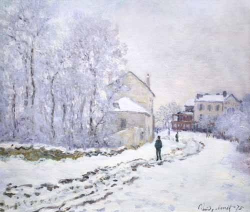 tableaux-de-paysages - Tableau -Neige à Argenteuil, 1875- - Monet, Claude