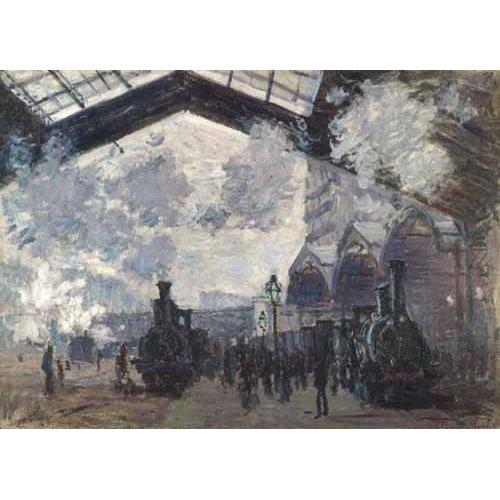 Tableau - La Gare Saint-Lazare, 1877-
