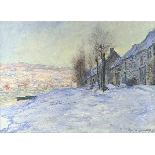Tableau -Lavacourt sous la neige, 1879-