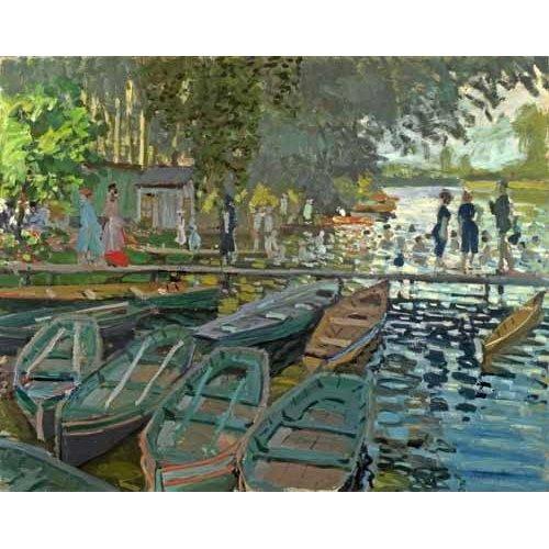 pinturas de paisagens - Quadro -Bathers at la Grenouillère, 1869-