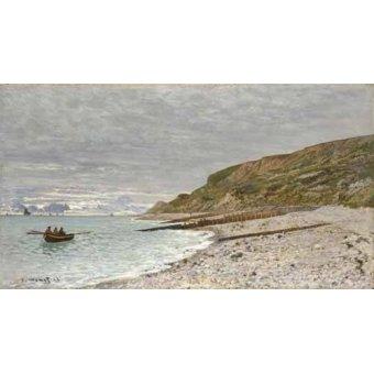 Tableaux de paysages marins - Tableau -Sainte-Adresse, La Pointe de la Hève, 1864- - Monet, Claude