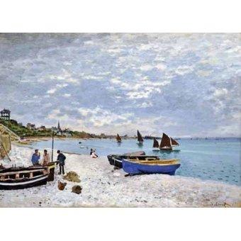 Tableaux de paysages marins - Tableau -La plage de Saint-Adresse, 1867- - Monet, Claude