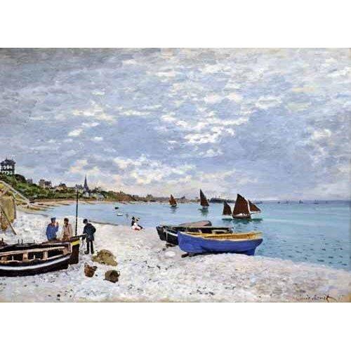 Tableau -La plage de Saint-Adresse, 1867-