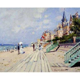 Tableau -La Plage à Trouville, 1870-
