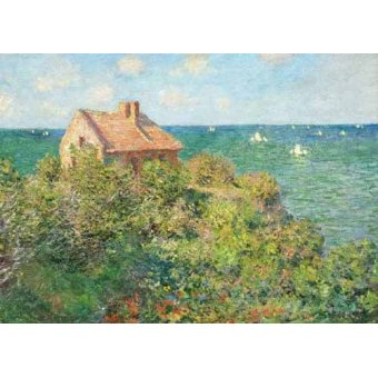 Tableaux de paysages marins - Tableau -Maison du pêcheur à Varengeville, 1882- - Monet, Claude