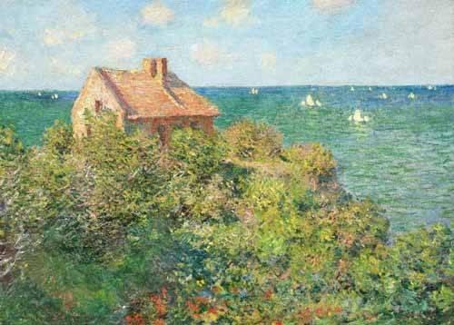 tableaux-de-paysages-marins - Tableau -Maison du pêcheur à Varengeville, 1882- - Monet, Claude