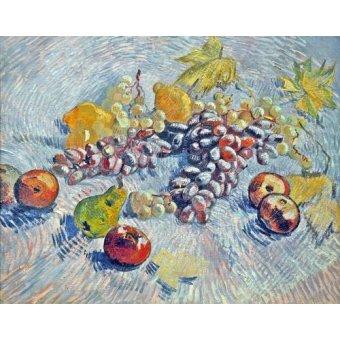 Tableaux nature morte - Tableau -Nature morte avec pommes, poires, citrons et les raisins. 1887- - Van Gogh, Vincent