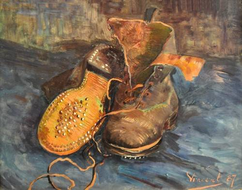 tableaux-nature-morte - Tableau -Les Souliers- - Van Gogh, Vincent