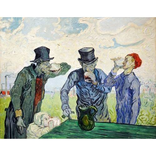 pinturas do retrato - Quadro -The Drinkers, 1890-