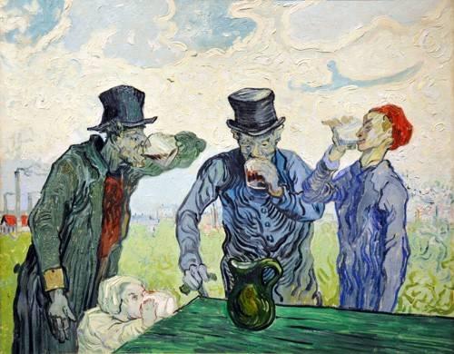 tableaux-de-personnages - Tableau -Les buveurs, 1890- - Van Gogh, Vincent