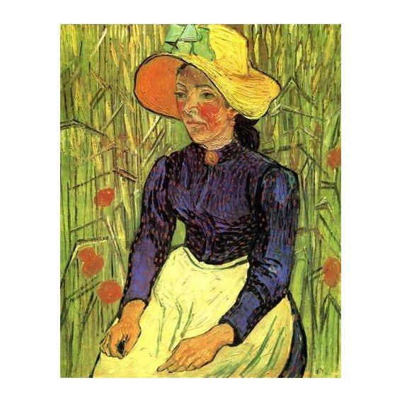 pinturas do retrato - Quadro -La campesina-