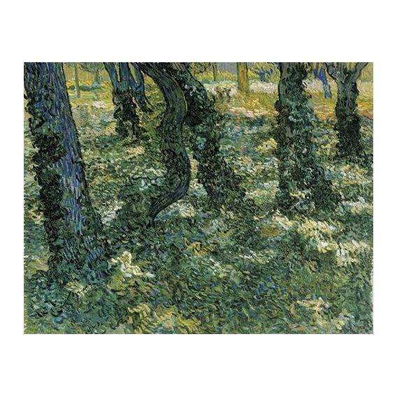 pinturas de paisagens - Quadro -Undergrowth, 1889-