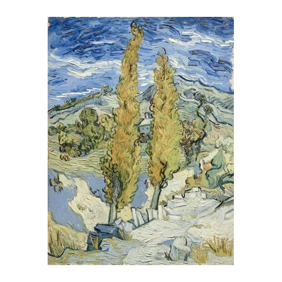 pinturas de paisagens - Quadro -The Poplars at Saint-Remy, 1889-